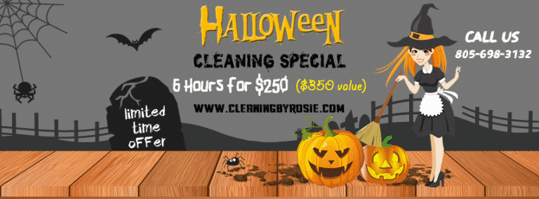 Santa Barbara House Cleaning Special For Halloween